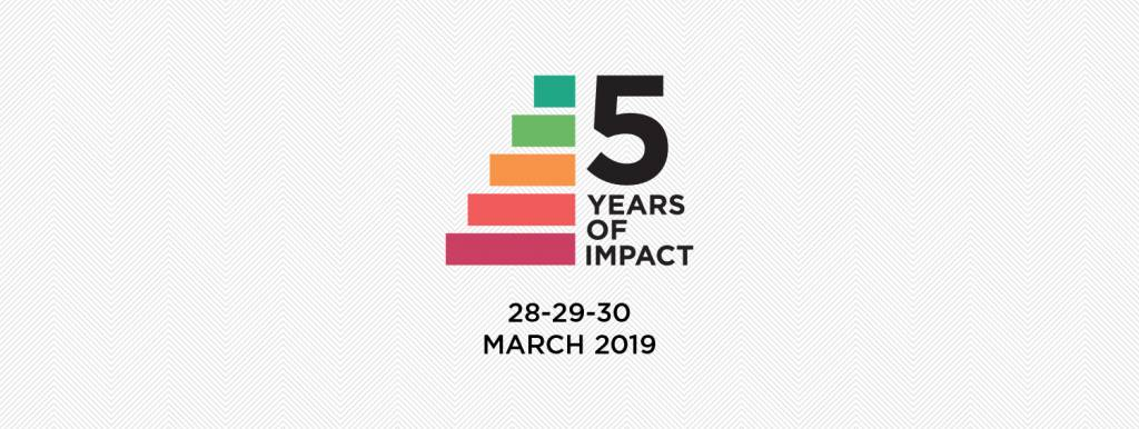 "#5yearsofimpact  – ""A world that works for all"""